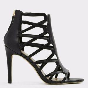 Aldo Shoes - ALDO black caged sandal heel size 7.5